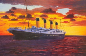 titanic-at sunset